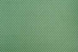 Seamless dots pattern green fabric for background