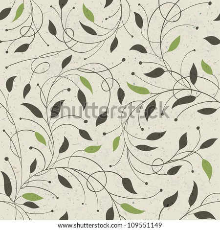Seamless ecology pattern with leaves, raster version, vector file available in portfolio.