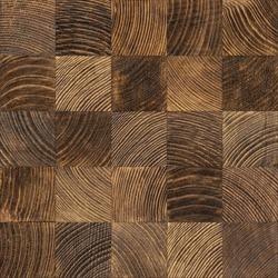 Seamless end grain wood texture. Cross cut lumber blocks.