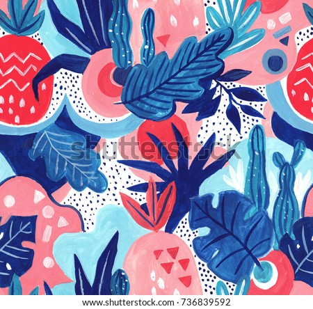 seamless exotic pattern with...
