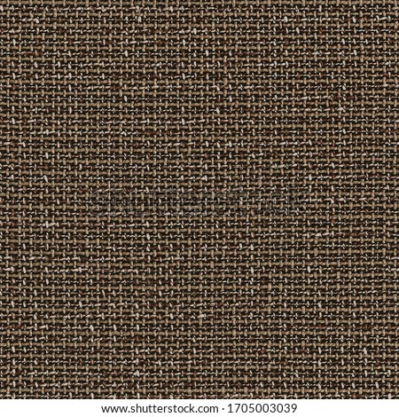 Seamless fabric textile pattern. High resolution close up of brown fabric cloth made of various thick threads. This fabric texture is seamless (tileable) and can be used as textile material surface. Сток-фото ©