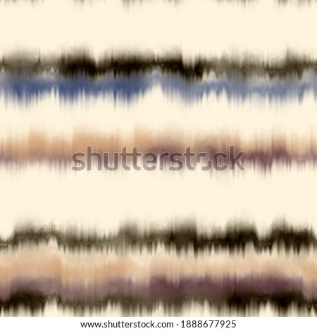 Seamless faux striped tie dye pattern swatch. High quality illustration. Multicolored hippie stripes of bleeding ink. Abstract digital design for fashion or other surface pattern printing. Photo stock ©