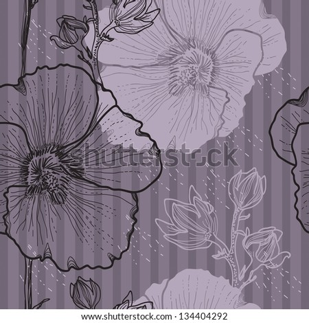 Seamless floral background for design
