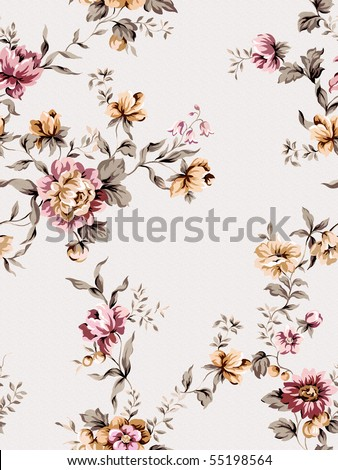 Seamless floral background. For easy making seamless pattern use it for filling any contours.