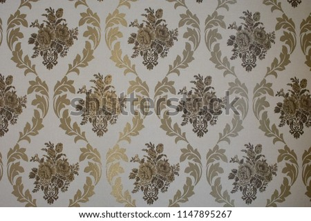 Seamless floral ornament on background. Contemporary pattern. Wallpaper pattern #1147895267