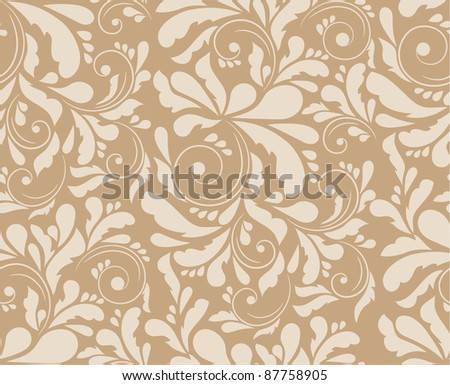 Seamless floral pattern, raster illustration