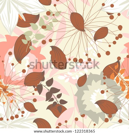 Seamless floral pattern. Raster version.