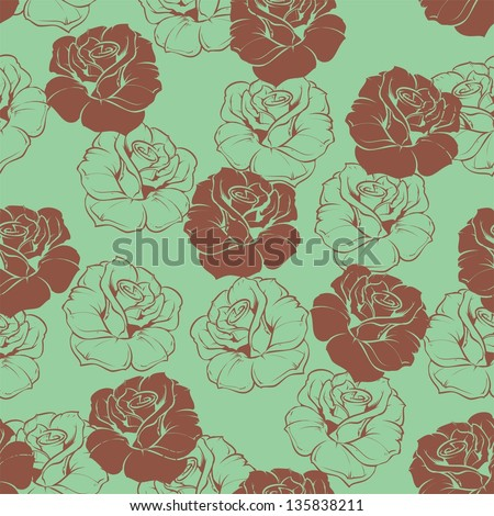 Hipster Floral Wallpaper Seamless Floral Pattern With