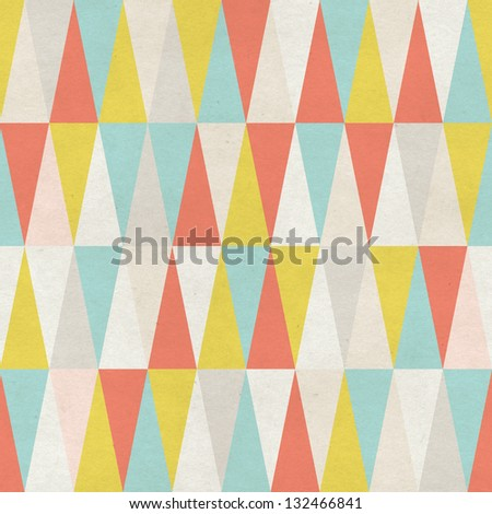 Seamless geometric pattern on paper texture