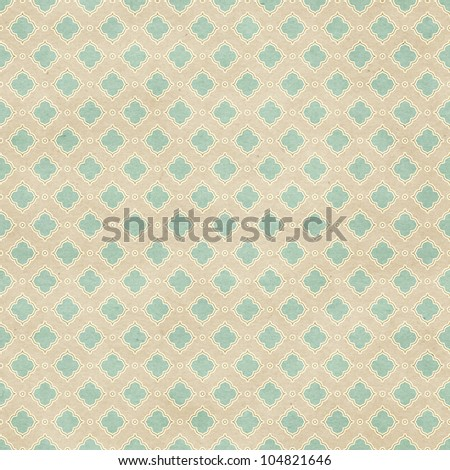 Seamless geometric pattern on paper texture. Classic background