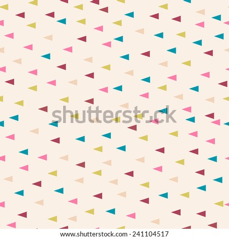 Seamless geometric triangle pastel powder background pattern