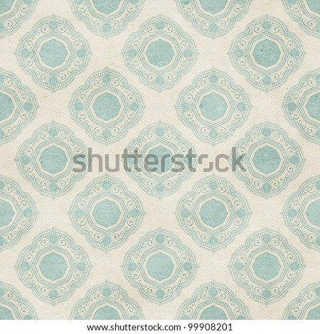 Seamless geometric wallpaper background. Classic delicate pattern on paper texture