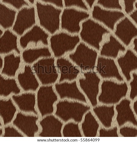 Seamless Giraffe repeating pattern texture
