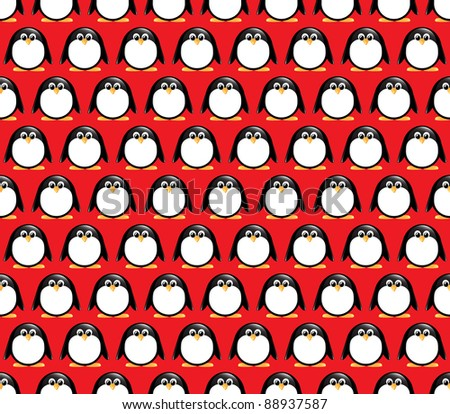 Seamless glossy penguin pattern. Also available in vector format.