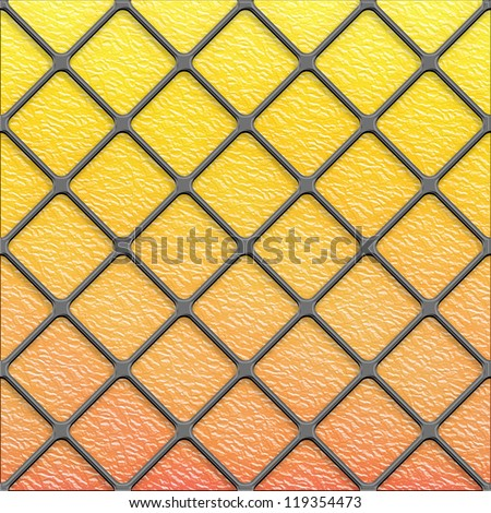 Seamless golden Diagonal stained glass texture panel