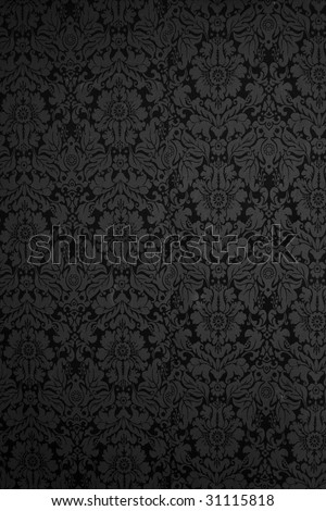 Seamless Gothic Damask wallpaper background
