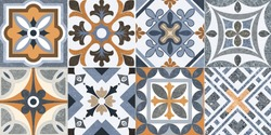 Seamless Graphics Design Wall tiles Wallpaper Decorative BackGround Modern Multi Color Pattern