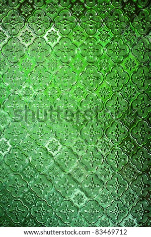 Seamless Green Glass texture background of bathroom concept