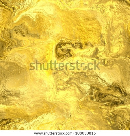 Seamless Hi-res (5000x5000) texture of gold wall