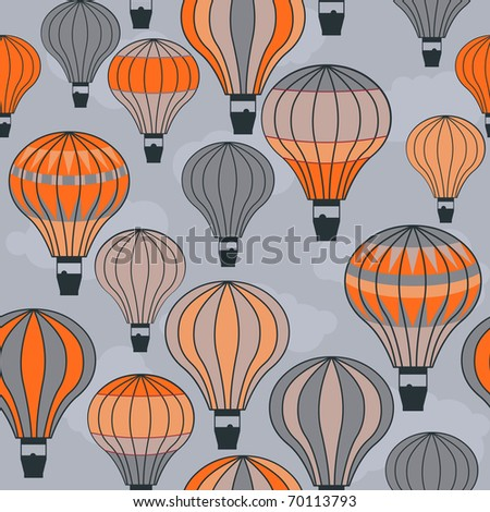 seamless hot air balloons- vector also available, id: 68559655