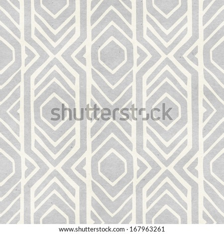 Seamless Ikat Pattern On Paper Texture Subtle Tribal Background