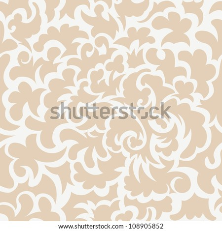 Seamless illustration of floral ornate pattern