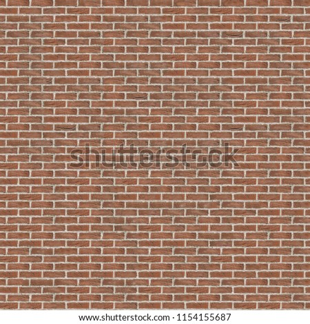 Stock Photo Seamless 4k texture\background red brick wall with white seams.