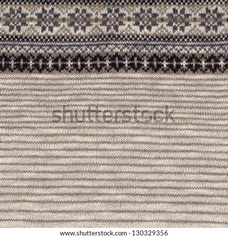 Seamless knitted fabric with strips, texture background