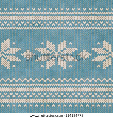 Seamless knitted pattern. Can be combined with plain knitted background.