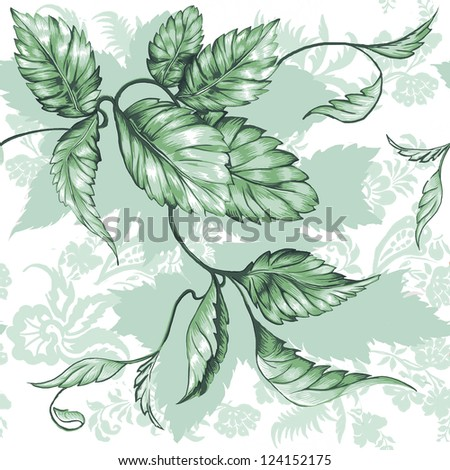 Seamless leaf design