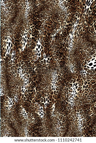 Seamless leopard design pattern