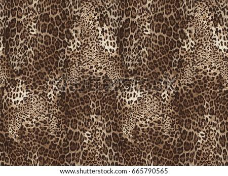 Seamless leopard pattern. Animal print.