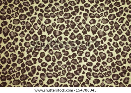 Seamless Leopard Pattern Background