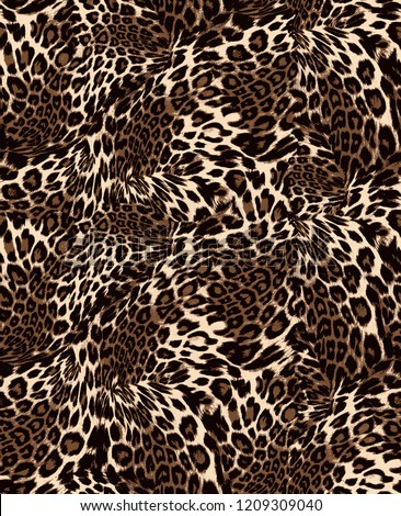 Seamless Leopard Pattern for Textile Print for printed fabric design for Womenswear, underwear, activewear kidswear and menswear and Decorative Home Design, Wallpaper Print