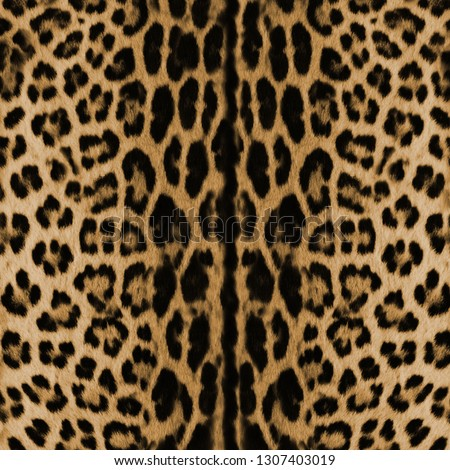 seamless leopard skin pattern. Animal print #1307403019