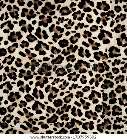 Seamless leopard texture, leopard fur, african anmal print