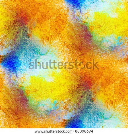 seamless macro texture brown yellow watercolors with brush strokes