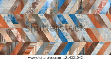 Seamless marble parquet texture or digital wall tile decor (horizontal and vertical chevron various) #1214331043