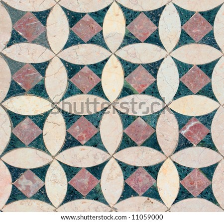 Seamless marble tiles pattern from Church of John the Baptist, Turkey