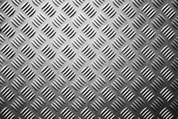 Seamless metal floor plate with diamond pattern, anti slip stainless steel sheet and plate, ribbed metal sheet, silver metal grip texture, aluminum notched sheets.