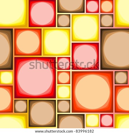 Seamless modern tile pattern in hot colors