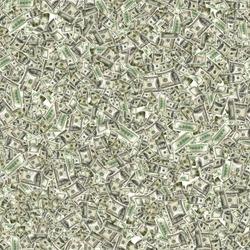 Seamless 100 Money stack. Hundred dollars of America. Falling money isolated, us bill white background.