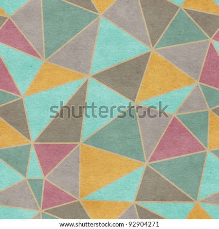Seamless old paper textured triangle background