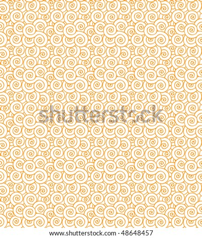 Seamless orange swirls repeating pattern texture