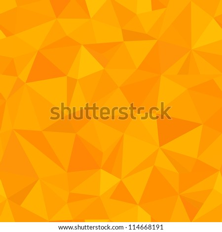 seamless - orange triangle (geometric pattern)
