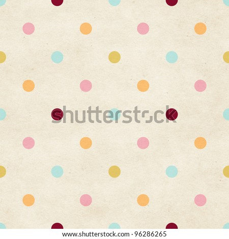 Seamless paper textured polka dots pattern