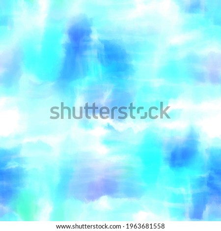 Seamless pastel tie dye swirl graphic motif pattern for print. High quality illustration. Faux cloudy random hippie culture delicate soft funky artistic digitally rendered bright vibrant dye design. Photo stock ©