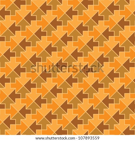 Seamless pattern - arrows in different directions