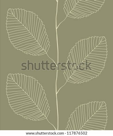 Seamless pattern from leaves