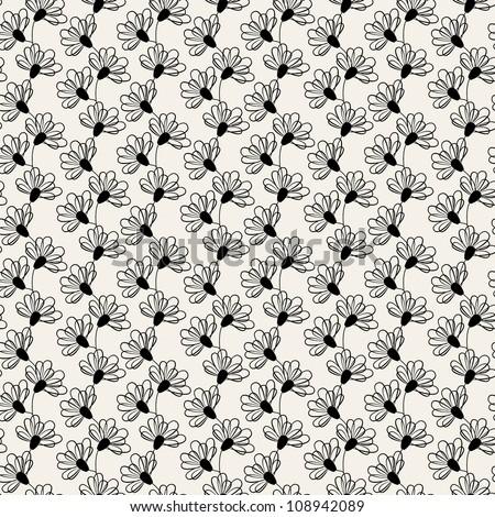 seamless pattern. modern floral texture